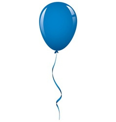dark blue balloon ribbon vector image