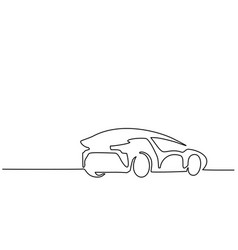 luxury car back vector image