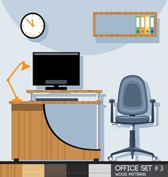 Office style interior set Digital image vector image vector image