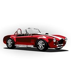 red classic sport car cobra roadster vector image