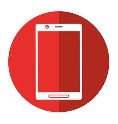 smartphone screen mobile digital shadow vector image vector image