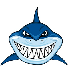 smiling shark cartoon vector image vector image