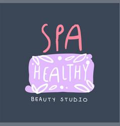 spa healthy beauty studio logo emblem for vector image