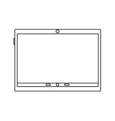 tablet device icon image vector image vector image