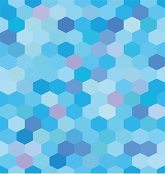 Abstract background blue hexagons vector image vector image