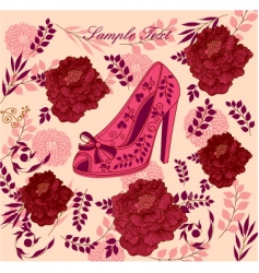 fashion shoe background vector image