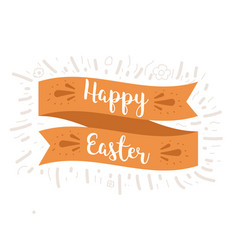 happy easter ribbon vector image