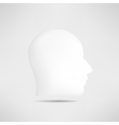 Human head profile silhouette isolated 3d mans vector image
