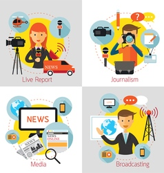 News and Journalism Concept Set vector image vector image
