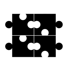 puzzle piece game line icon vector image vector image
