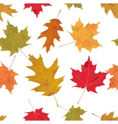 Seamless Tiled Colorful Autumn Leaves vector image vector image