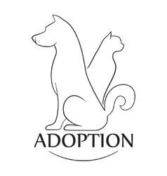 Emblem for the organization for adoption of vector image vector image