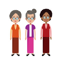 group grandmother family member vector image vector image