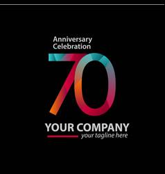 70 year anniversary celebration company template vector