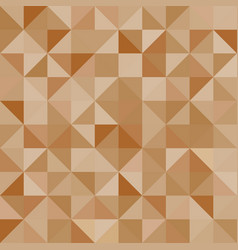 Abstract background brown triangles vector image