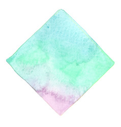 Abstract blue green mint and purple watercolor vector