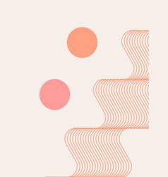 Abstract modern bohemian contemporary geometric vector