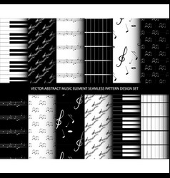 abstract music element seamless pattern design se vector image