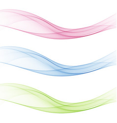 abstract soft speed futuristic swoosh wave three vector image