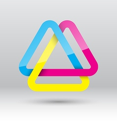 Abstract triangle loop icon vector