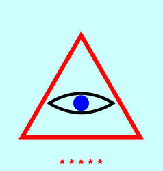 all seeing eye symbol it is icon vector image
