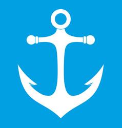 Anchor icon white vector