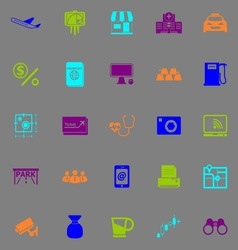 Application fluorescent color icons vector