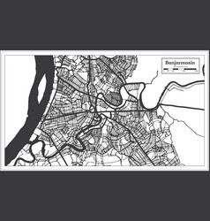 Banjarmasin indonesia city map in black and white vector