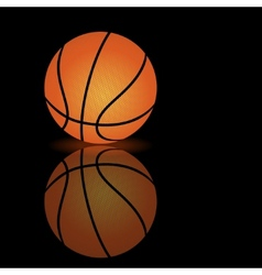 Basketball on a smooth surface vector