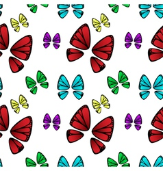 butterfly colorful pattern vector image
