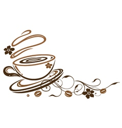 Coffee cafe floral flowers vector