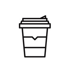 coffee icon in modern style for web site and vector image