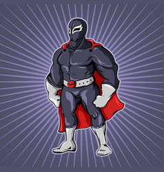 comic superhero man template vector image