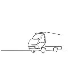 Concept big lorry vector