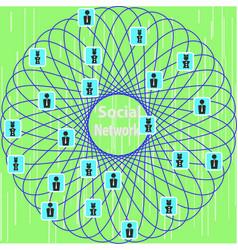 conceptual representation of the social network vector image