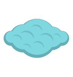Curly cloud icon isolated vector