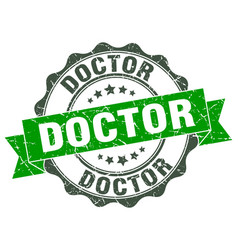 Doctor stamp sign seal vector