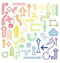 Doodle arrows collection vector