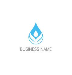 droplet aqua bio eco leaf logo vector image