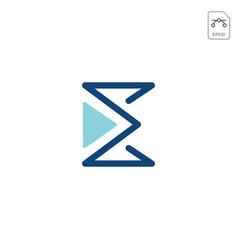 e logo monogram business icon element isolated vector image