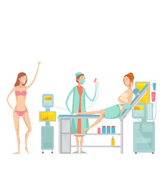 epilation flat set vector image