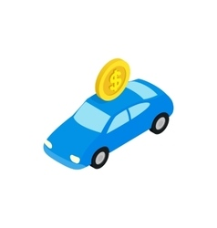 Fine for parking icon isometric 3d style vector