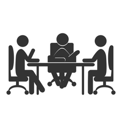 Flat office communications icon isolated on white vector image