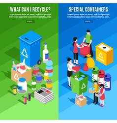 Garbage Recycling Vertical Banners vector