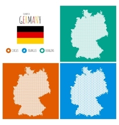 Germany Map in 3 Styles vector image
