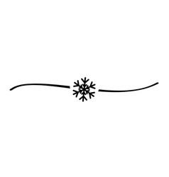 hand drawn shape snowflake black vector image