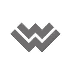 Letter W Logo Concept Icon vector image