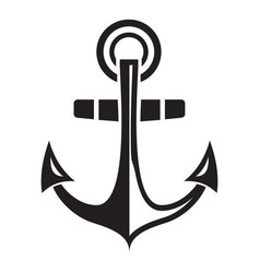 maritime anchor icon simple style vector image