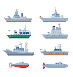military boats combatant warship security vector image