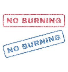 No burning textile stamps vector